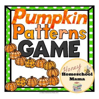 Pumpkin Pattern File Folder Game and Task Cards