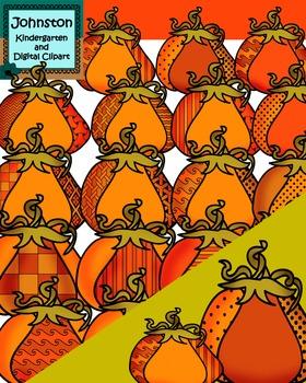 Pumpkin Patterns Clipart