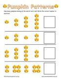 Pumpkin Patterns - Number Series Practice