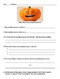 Pumpkin Person worksheet