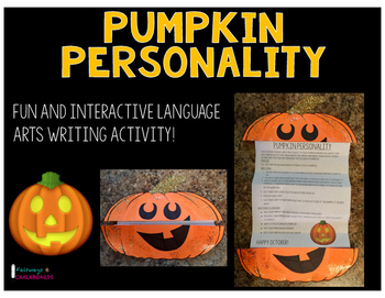 Pumpkin Personality Interactive Writing Activity