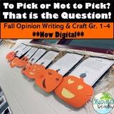 Pumpkin Opinion/Persuasive Writing & Craftivity