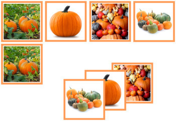 Pumpkin Matching Cards