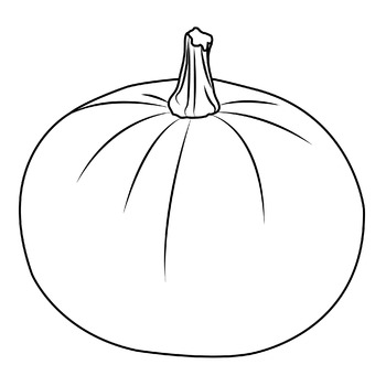 Pumpkin: Photo, Vector, Black and White Outline