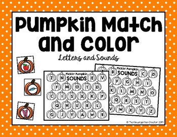 Pumpkin Match and Color - Initial Sounds