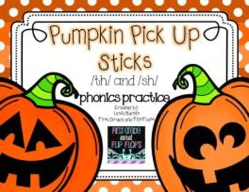 Pumpkin Pick Up Sticks: Digraph Practice /sh/ and /th/