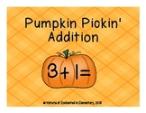 Pumpkin Pickin' Addition! Addition Facts Practice