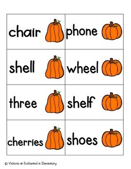 Pumpkin Pickin' Phonics: Beginning Digraphs Pack