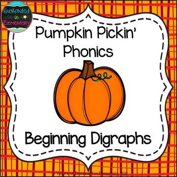 Pumpkin Pickin' Phonics: Beginning Digraphs Pack