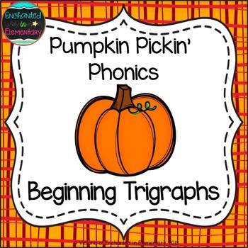 Pumpkin Pickin' Phonics: Beginning Trigraphs Pack