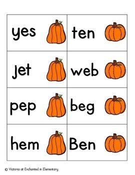 Pumpkin Pickin' Phonics: CVC Words Pack