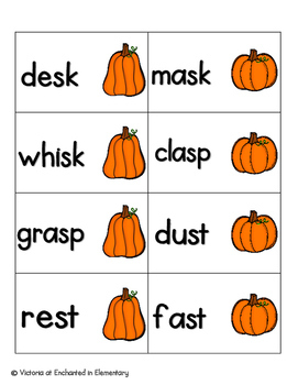 Pumpkin Pickin' Phonics: Ending Blends Pack