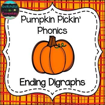 Pumpkin Pickin' Phonics: Ending Digraphs Pack