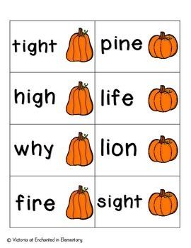 Pumpkin Pickin' Phonics: Long I Pack