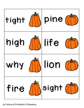 Pumpkin Pickin' Phonics: Long I Pack