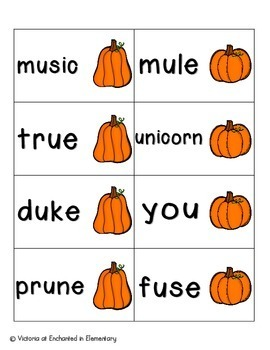 Pumpkin Pickin' Phonics: Long U Pack