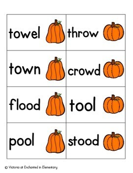 Pumpkin Pickin' Phonics: Vowel Digraphs and Diphthongs Pack 1: ow, ou, oo, ew