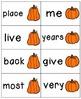 Pumpkin Pickin' Sight Words! Bundle of Fry Lists 1-3