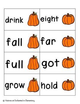 Pumpkin Pickin' Sight Words! Third Grade List Pack