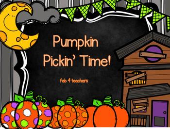 Pumpkin Pickin' Time!