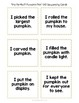 Pumpkin Poetry & Comprehension Activity Packet for Fall