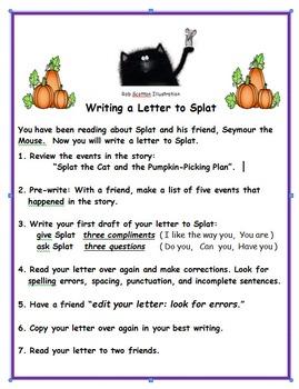 Splat the Cat Pumpkin Picking Plan Book Study