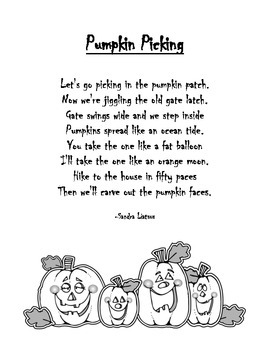 Pumpkin Picking Poem
