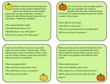Pumpkin Picking Short Stories