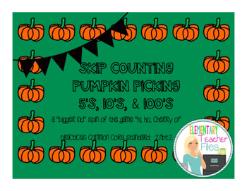 Pumpkin Picking Skip Counting Differentiated Game Pack