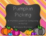 """""""Pumpkin Picking"""" an adventure into composing rhythms (first grade)"""