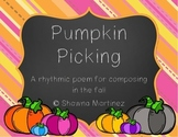 """""""Pumpkin Picking"""" an introduction to composing lesson (second grade)"""