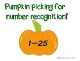 Pumpkin Picking for Number Recognition