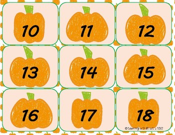 Pumpkin Picking for Number Recognition