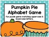 Pumpkin Pie Alphabet Game