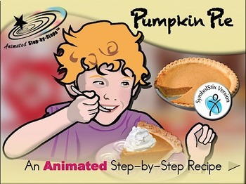 Pumpkin Pie - Animated Step-by-Step Recipe SymbolStix