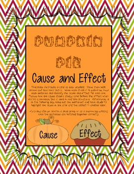 Pumpkin Pie Cause and Effect