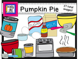 Pumpkin Pie Clipart (27 Color & BW images)