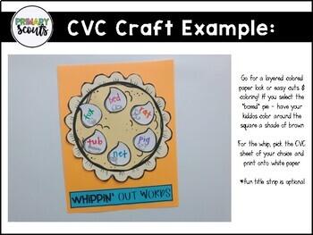 Pumpkin Pie Craft CVC ACTIVITY