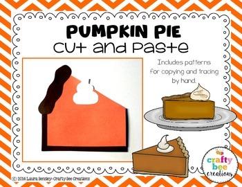 Pumpkin Pie Cut and Paste