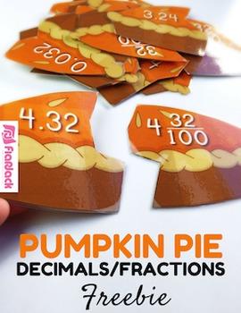 Pumpkin Pie Decimal Fraction Puzzles
