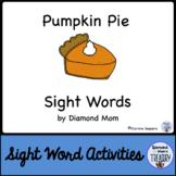 Pumpkin Pie Dolch Sight Words