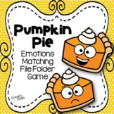 Pumpkin Pie Emotions Matching File Folder Game