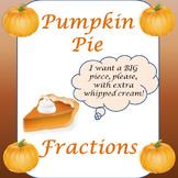 Pumpkin Pie Fractions