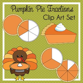 Pumpkin Pie Fractions Clip Art