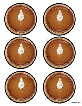 Pumpkin Pie Fractions Cut and Paste for Autism