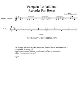 Pumpkin Pie: Free Action Song Sheet Music