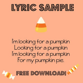 Pumpkin Pie: Free Action Song Sheet Music