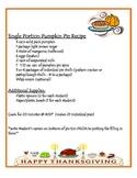 Thanksgiving Pumpkin Pie Making
