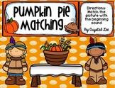 Pumpkin Pie Matching- Initial Sounds