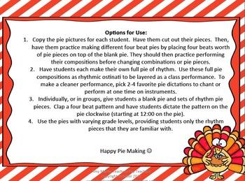 Pumpkin Pie Musical Fraction Kit